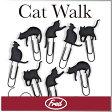 ( あす楽 ) 猫 クリップ キャット ウォーク 【 FRED / フレッド 】CATWALK picture hangers おもしろ文具 かわいい ネコ シルエット 黒猫 クリップ セット 写真 カード ディスプレイ 海外 ネコ好き プレゼント キティ ★ WakuWaku
