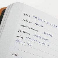 【メール便】パスワード管理便利ノートパスワードブックPasswordBookkeeperミニノートパスワードIDメモ保存保管に/WakuWaku