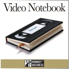懐かしい?それとも初めて見た?懐かしいVHSの形をしたノート。ケース、ステッカー付きで本物そ...