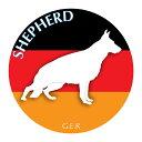 ジャーマンシェパードドッグ マウスパッド 吸盤 吸着 グッズ 動物 イラスト 癒し アニマル ドッグ マウスパット シェパード 犬 いぬ イヌ シルエット 影 アクセサリー
