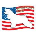 【人気商品】犬の産出国の国旗がバックでカッコいい!いぬステッカーはた アメリカンコッカース...