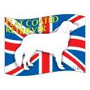 【人気商品】犬の産出国の国旗がバックでカッコいい!いぬステッカーはた フラットコーテッドレ...