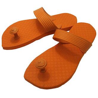 Gaze riveted! Traditions of India & Australia design flip flop スワミーズ ( Swamisz ) unisex Orange