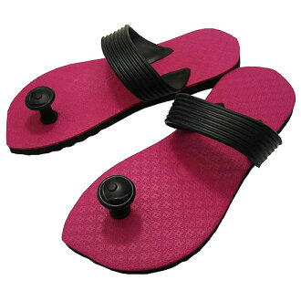 Gaze riveted! Traditions of India & Australia design flip flop スワミーズ ( Swamisz ) unisex pink