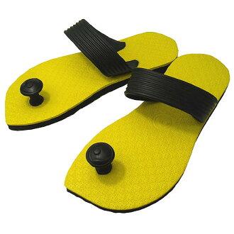 Gaze riveted! Traditions of India & Australia design flip flop スワミーズ ( Swamisz ) yellow unisex