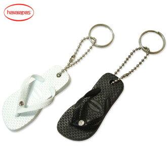 供夏威夷播音員·粉絲必需☆包的akuse&鑰匙圈使用的小涼鞋havaianas(夏威夷播音員)CHAVEIRO CRYSTAL鑰匙圈全2色