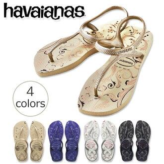 ★ 供新作品havaianas閃光都市新鮮(FLASH URBAN FLESH)女士女性使用的海濱拖鞋2014年