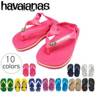 皇帝夏威夷播音員的海濱拖鞋的havaianas BABY BRASIL LOGO(小孩巴西標識)巴西製造的小孩
