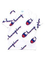 チャンピオンCHAMPION総柄ロゴショートスリーブTシャツJSYSSTEE-WHITE-メンズS-XLホワイト