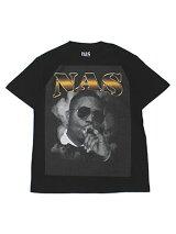 NASMERCHANDISEナズマーチャンダイズSMOKINT-SHIRTS-BLACK-プリントTシャツグラフィック黒/ブラック