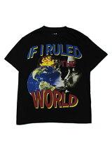 NASMERCHANDISEナズマーチャンダイズIfIRuledTheWorldT-SHIRTS-BLACK-プリントTシャツグラフィック黒/ブラック