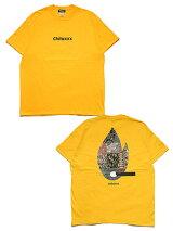 チラックスChilaxxxグラフィック半袖TシャツMULTISCARFMATCHT-SHIRT-GOLD-メンズM-XXLゴールド