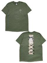 チラックスChilaxxx定番XXXロゴ半袖TシャツMAKAVELIXXXT-SHIRT-MILITARYGREEN-メンズM-XXLミリタリーグリーン