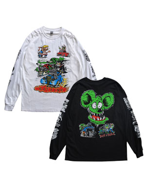 トップス, Tシャツ・カットソー  RAT FINK T RATFINK LONGSLEEVE TEE -2.COLOR- M-XL