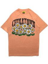 チャイナタウンマーケットCHINATOWNMARKETグラフィックTシャツSMILEYFLOWERPOWERTEE-ORANGE-メンズM-XLオレンジ