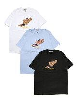 シャディックSHADIQプリントTシャツMIGHTYJACKT-SHIRT-3.COLOR-メンズM-XXLホワイト/ブラック/ライトブルー