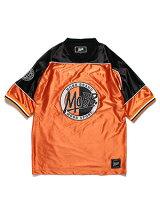 モブMOBBOGサークルロゴフットボールTシャツMOBBFOOTBALLT-SHIRT-ORANGE-メンズレディース男女兼用M-XLオレンジ
