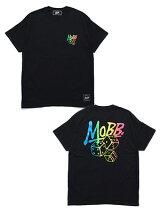 モブMOBBグラデーションバックプリントTシャツGRADATIONDICET-SHIRT-BLACK-メンズM-XXLブラック
