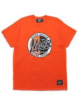 モブMOBBサークルロゴTシャツMOBBCIRCLELOGOT-SHIRT-ORANGE-メンズM-XXLオレンジ