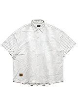 チアーズCheers半袖シャツSTRIPESSSHIRT-WHITE-ストライプホワイトM-XL