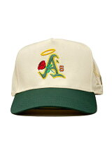 PHEITフェイトキャップホワイト/グリーンスナップバックMLBカスタムロゴ刺繍帽子SBSDBAYAREA-WHITE/GREEN-