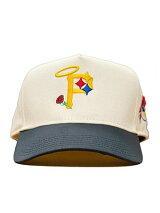 PHEITフェイトキャップホワイト/ネイビースナップバックMLBカスタムロゴ刺繍帽子SBSDPITTSBURGH-WHT/NVY-