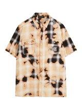 サンデーオフクラブSUNDAYOFFCLUBチェックシャツSEASONLETTERINGARTWORKSBLEACHEDPLAIDCHECKSHIRT-BLACK-メンズ1-2サイズブラック