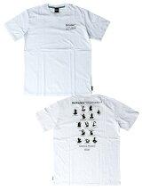 ストリートエックスStreetXプリントTシャツBARKSDALEORGANISATIONSHORTSLEEVETEE-WHITE-メンズM-XLホワイト