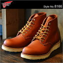 RED WING レッドウィング ブーツ8166 クラシック ワーク/6インチ ラウンド トゥRW-8166 CLASSIC WORK/6