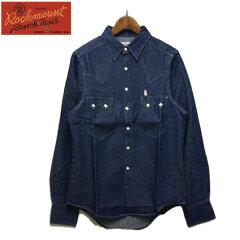 Rockmount(ロックマウント)デニム ウエスタンシャツ メンズ,シャツ,デニムシャツ,インディゴ,ネイビー,デッドストック,アメリカ,USA,カジュアル,ブランド,希少,レア