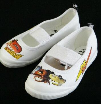 【カーズ】なかよしDN05ホワイト2E【上履】【子供靴】【定番】