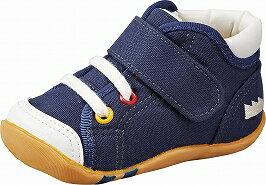 【Carrot】キャロットB63ネイビー2E【ベビー靴】【子供靴】【つま先ゆったり】【カウンターボックス】【フレックスジョイント】【カテキン】【洗えるインソール】【国産】【Made in Japan】