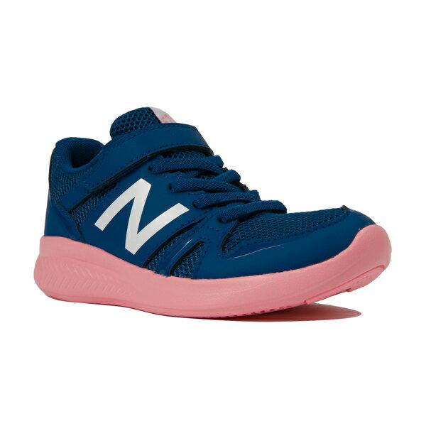 【new balance】YT570PC ネービー/ピンク【子供靴】【通園】【キッズ専用ラスト】【C-CAP】【ハーフサイズ】