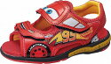【カーズ】DN-C1276レッド【子供靴】【サンダル】【サマーシューズ】【トイストーリ】【ライトニング・マックィーン】【LED】