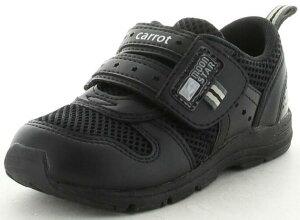 【Carrot】CR-C2175ブラック2E【子供靴】【ハーフサイズ】【通園靴】【洗えるインソール】【急速乾燥】【つま先ゆったり】【カウンターボックス】【フレックスジョイント】【Ag+抗菌防臭】