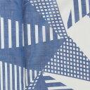 [サイズオーダー] カーテン 輸入カーテン インポートカーテン 厚地カーテン 幾何学模様 北欧 青/●ラゴム/【YH971】幅〜200cm×丈〜200cm [1枚] 1cm単位でサイズオーダー Batangen ノルウェー OKC5 2