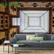 壁紙クロス輸入壁紙不織布WALLPERA[Mural1725-001Windows]ウィンドウズ《即納可》