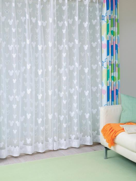 Wallstyle | Rakuten Global Market: Mickey Mouse lace curtain LL ...