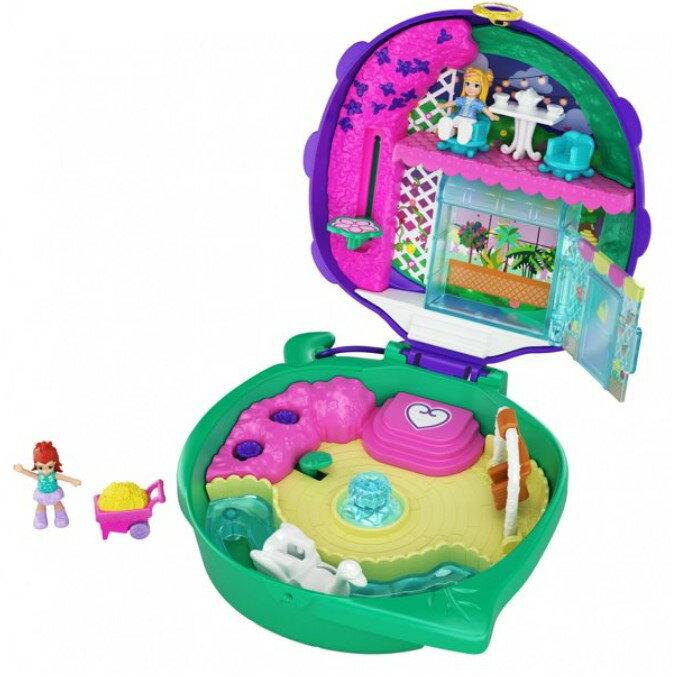 ぬいぐるみ・人形, ミニドール RDY Polly Pocket Lil Ladybug Garden Compact2 Polly Pocket Pocket World Lil Ladybug Garden Compact, 2 Micro Dolls, Accessories