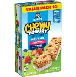 [送料無料] Quaker クエーカー チューイ ヨーグルト グラノーラバー 14本入り バラエティパック Chewy Yogurt Granola Bars Variety Pack 14 pack グラノーラ おやつ [楽天海外通販]