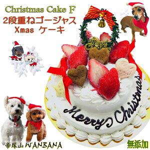 早期予約特典おまけ付 犬用の クリスマス ケーキ ゴージャス 2段ケーキ 無添加 馬肉とお野菜生地 アレルギー体質の愛犬も 豪華 Xmas cake は食べっぷりも最高 鶏肉 乳製品 不使用 人気 ギフト 贈り物 プレゼント パーティー オフ会 6600円以上 送料無料 ワンバナ