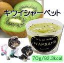 犬のアイス キウイシャーベット 70g 無添加 暑い 熱中症対策 食欲不振 夏バテ 体温調節 フルーツ 果物 野菜 ひんやり 冷たい 贈り物 ギフト プレゼント アレルギー対応 6600円以上送料無料 ワンバナ
