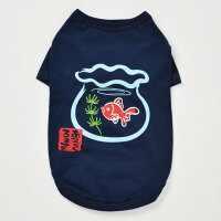 金魚鉢に金魚S/M/L和風あるくろぉす犬の服犬服トイプードルチワワダックスパグ