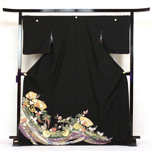 【レンタル】 留袖 レンタル 着物 黒留 黒留袖 19点フルコーディネートセット 結婚式 rental とめそで kimono きもの