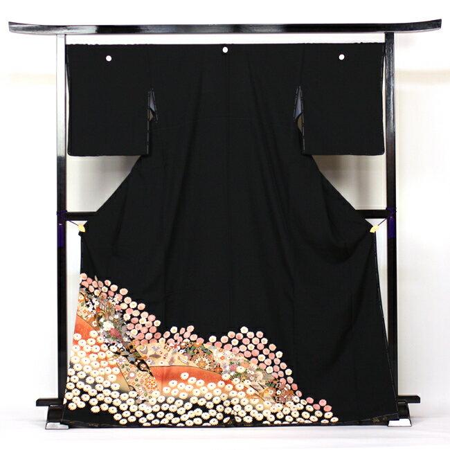 【レンタル】 留袖 レンタル 往復送料無料 着物 黒留 正絹 黒留袖 19点フルコーディネートセット 結婚式〔消費税込み〕