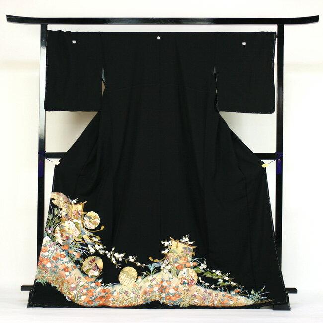【レンタル】 留袖 レンタル 着物 黒留 正絹 黒留袖 19点フルコーディネートセット 結婚式 170cm対応
