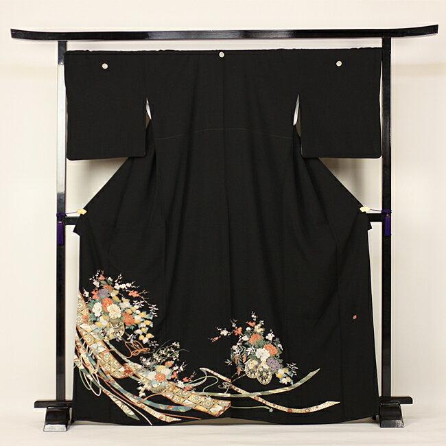 【レンタル】 留袖 レンタル 往復送料無料 着物 黒留 作家物 京友禅 黒留袖 19点フルコーディネートセット 結婚式 rental とめそで kimono きもの〔消費税込み〕