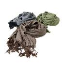 「男女兼用楊柳ストール3色」メンズレディースショール着物マフラー羽織ものグリーンブラックブラウン