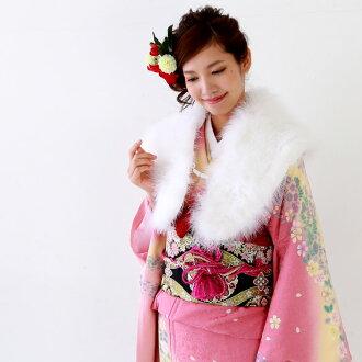 Shawl quinceañera furisode kimonos furisode feather shawl party-furisode and quinceañera in essential items quinceañera ( セイジンシキ comingof inbetween ) shawl ( しょーる )