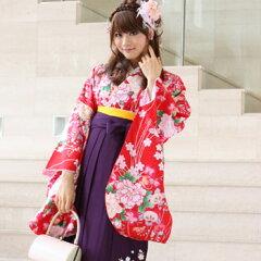 卒業式 袴 レンタル 女 袴セット 女 卒業式袴セット2尺袖着物&袴 フルセットレンタル 安い…